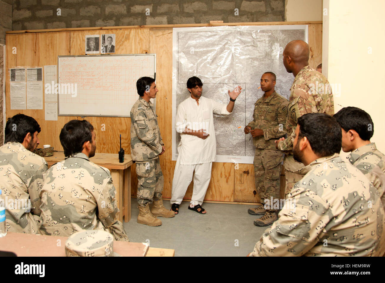 US Army Maj Shaalin David Standing Center Right Assigned To - Us army map reading