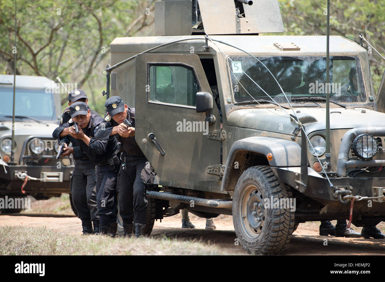 Guatemalan police officers who are part of the Guatemalan Stock ...