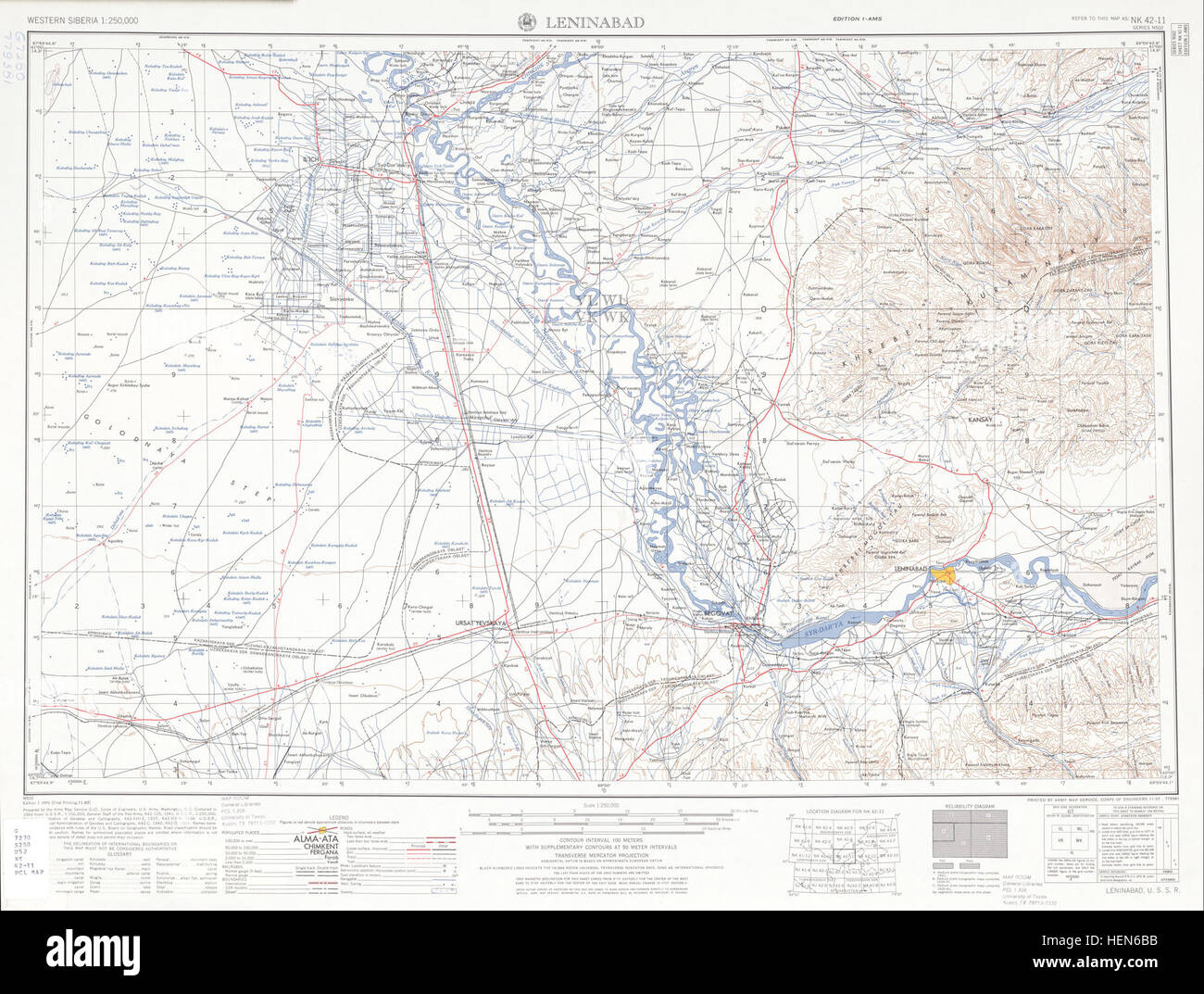 USSR map NK 4211 Leninabad Stock Photo 129543775 Alamy