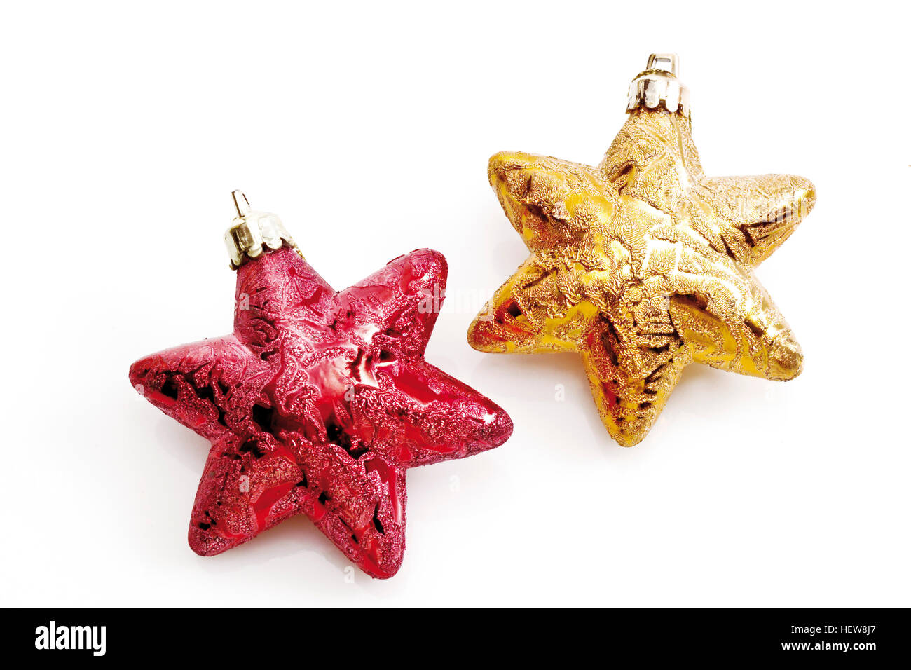 Gold star ornaments - Christmas Tree Decorations Red And Gold Star Ornaments