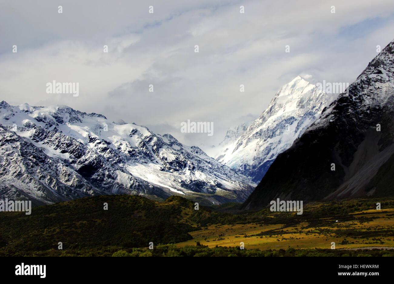Alpine Park Aoraki Mount Cook 70696 Hectares Is New Zealands Great Alpine