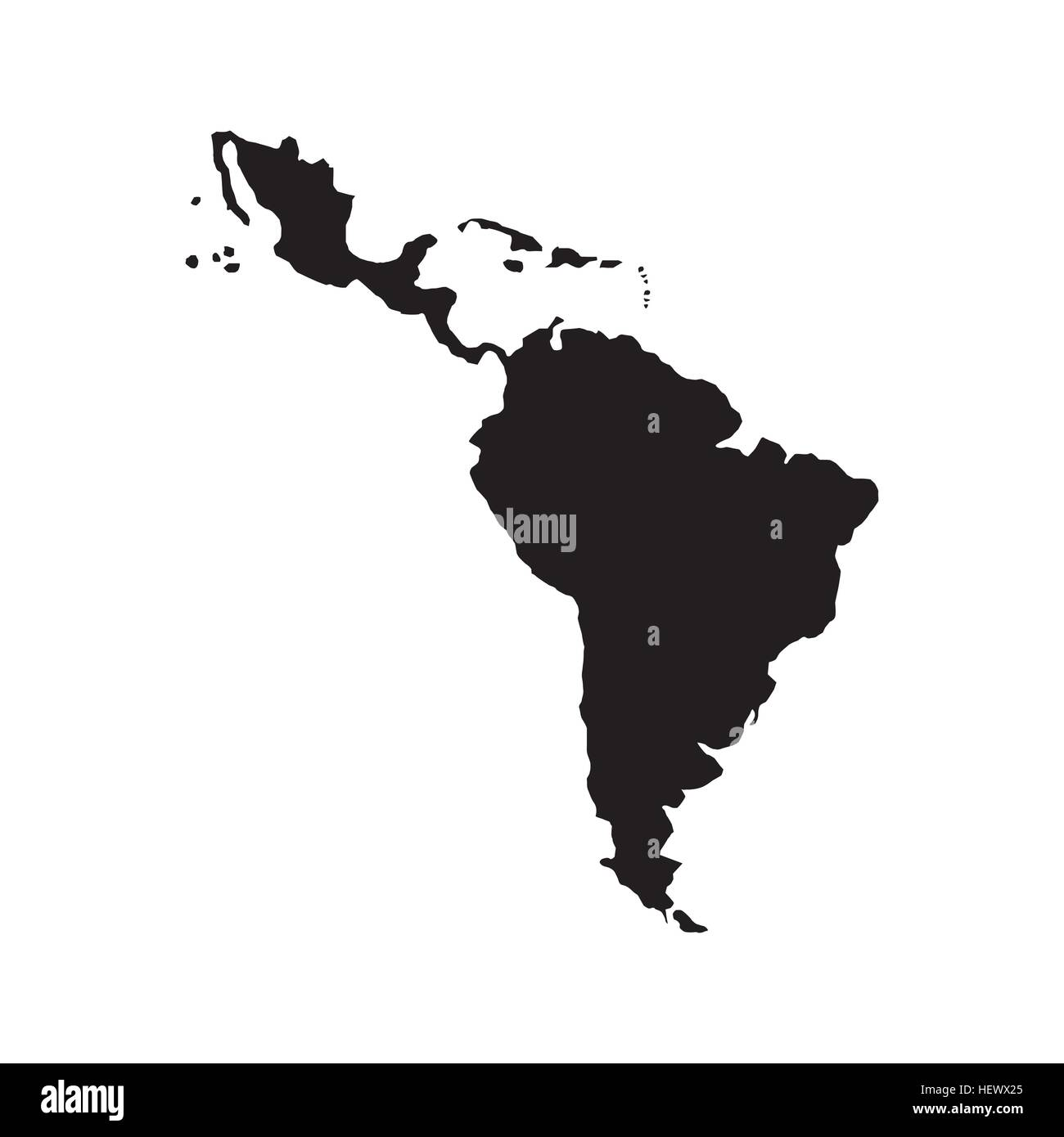Silhouette of latin america map icon over white background vector silhouette of latin america map icon over white background vector illustration sciox Choice Image