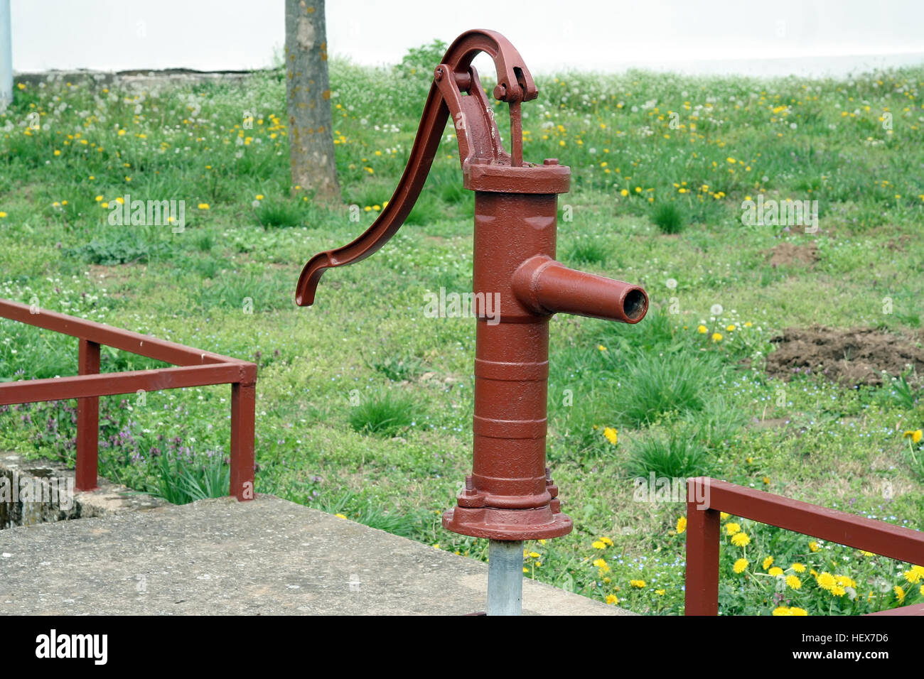Vintage water faucet. Old water pump Stock Photo, Royalty Free Image ...