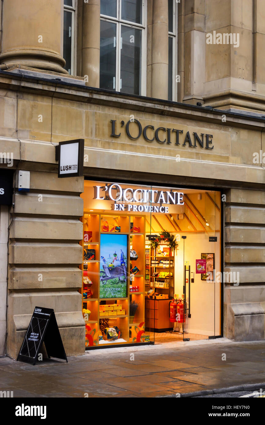Loccitane En Provence Store In St Marys Gate Manchester Stock