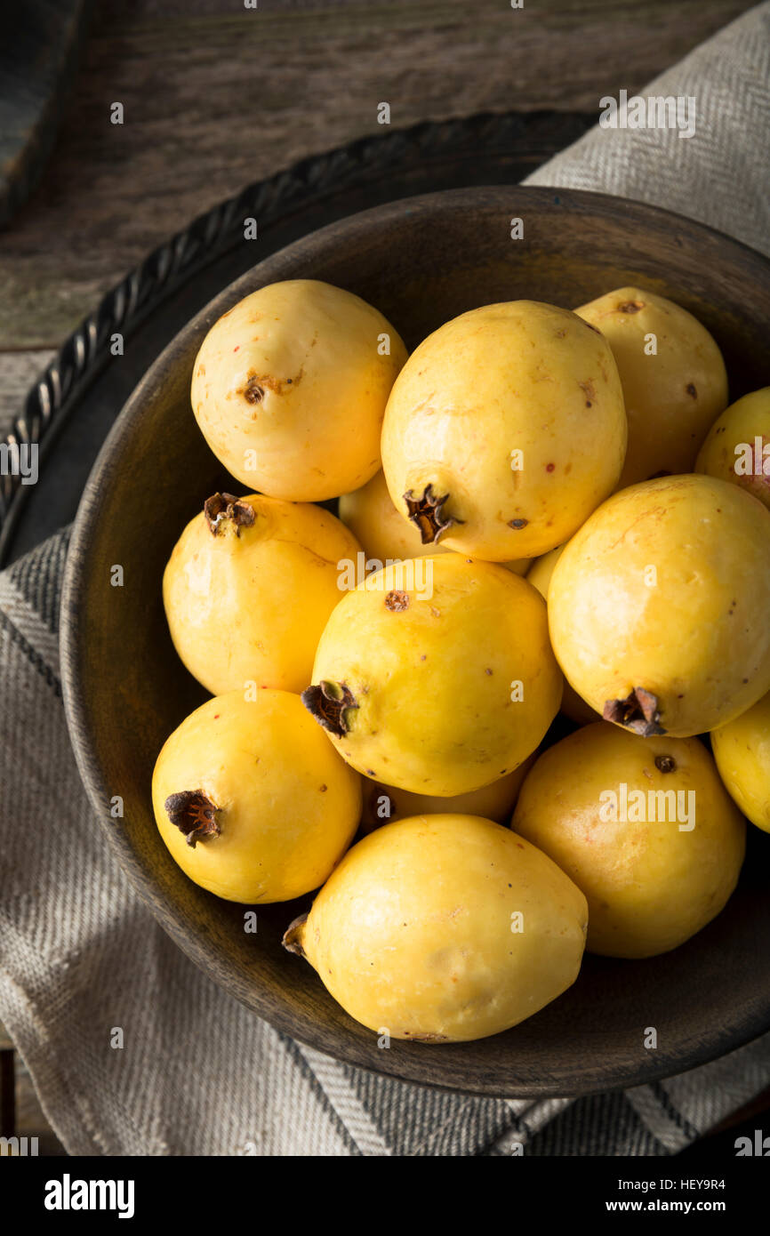 Rawanic Yellow Guava Fruit Ready To Eat Stock Photo, Royalty How To Eat  Guava Raw