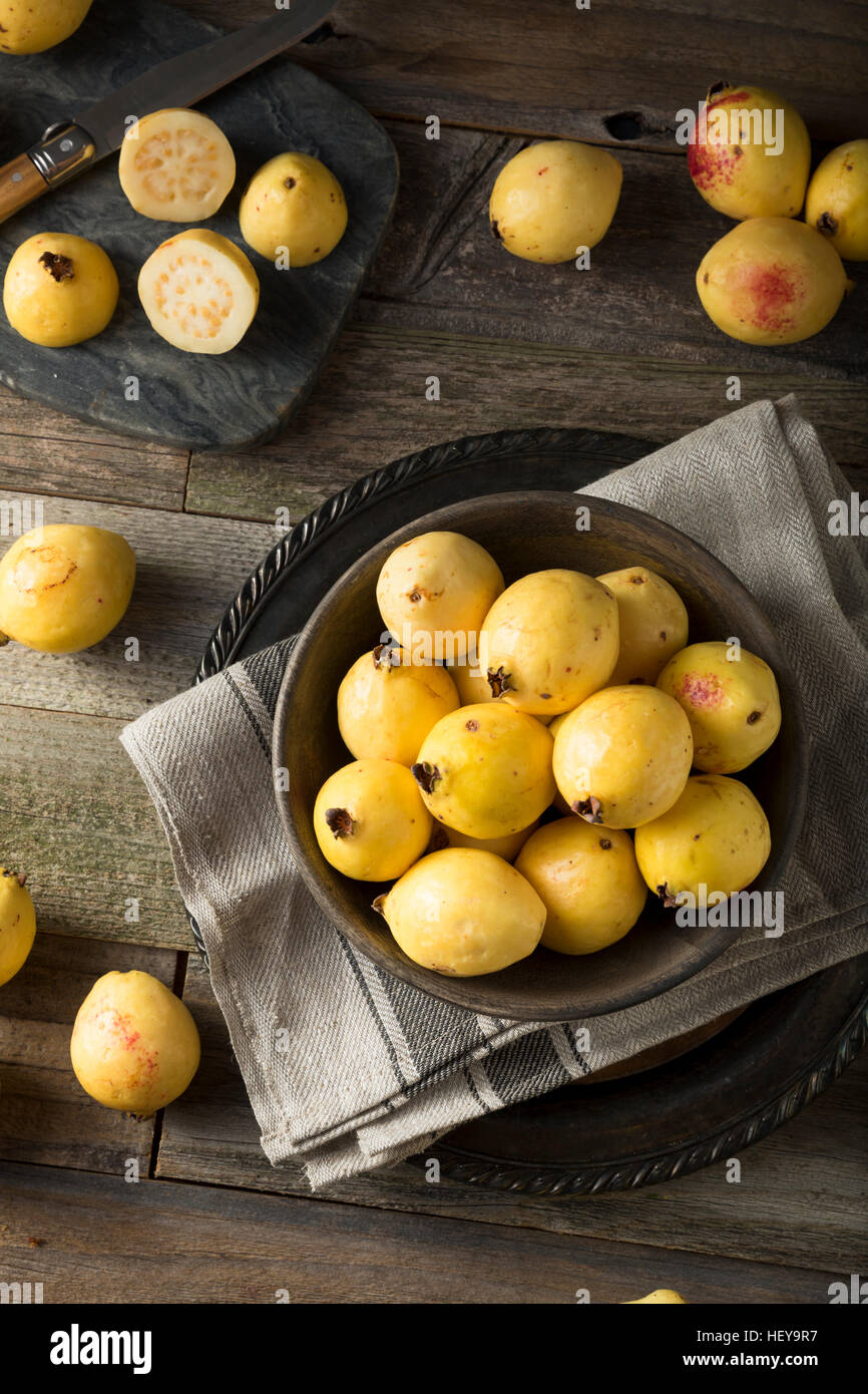 Raw organic yellow guava fruit ready to eat stock photo royalty raw organic yellow guava fruit ready to eat ccuart Gallery