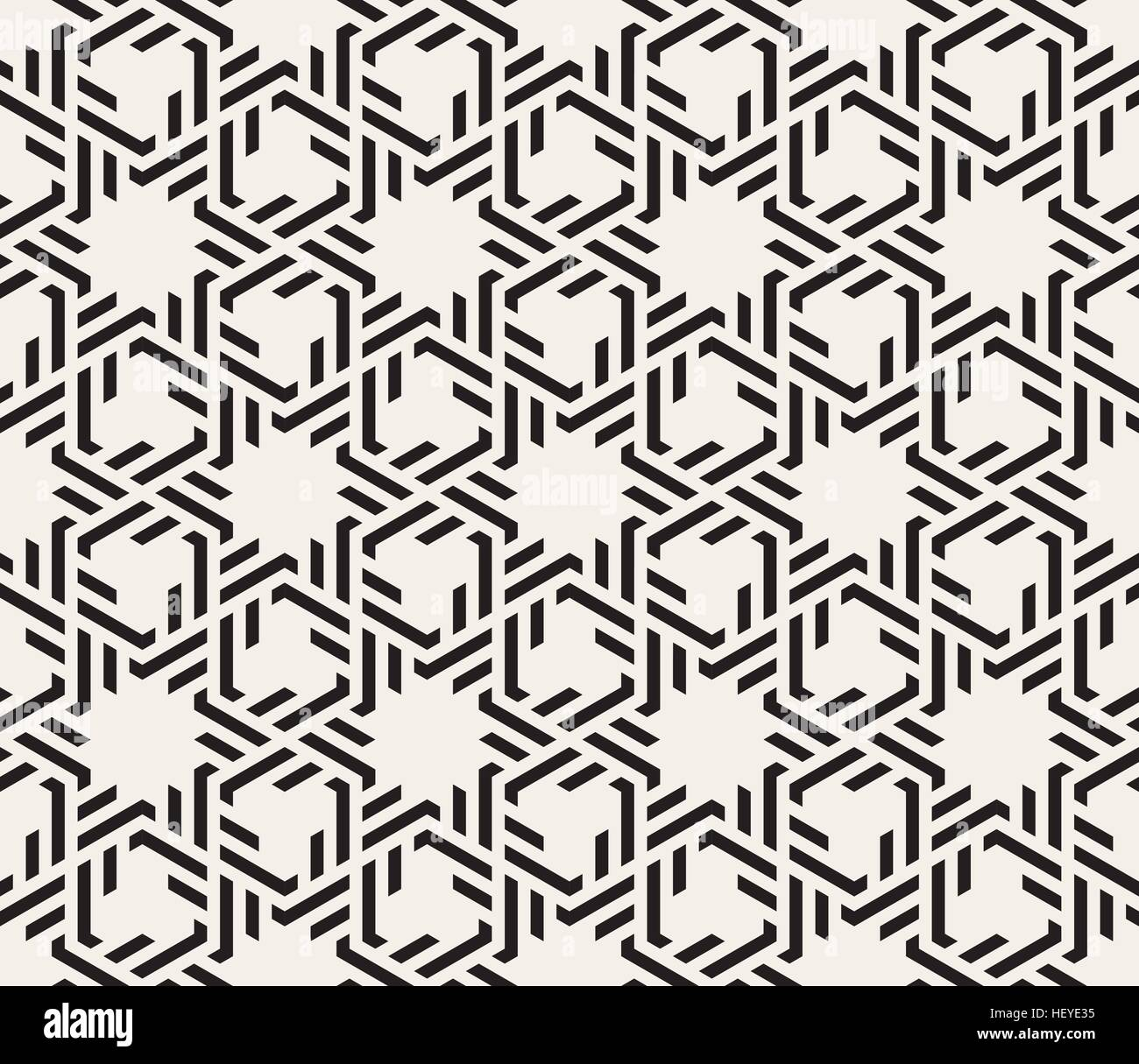 Vector Seamless Black And White Interlacing Lines ...