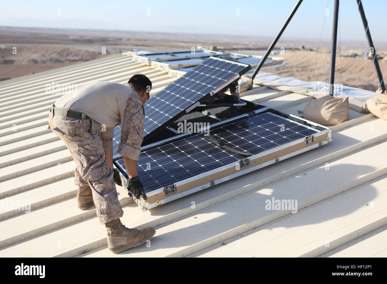Marine solar panel installations first mate marine inc - U S Marine Cpl Moses E Perez A Field Wireman With Combat Logistics 15