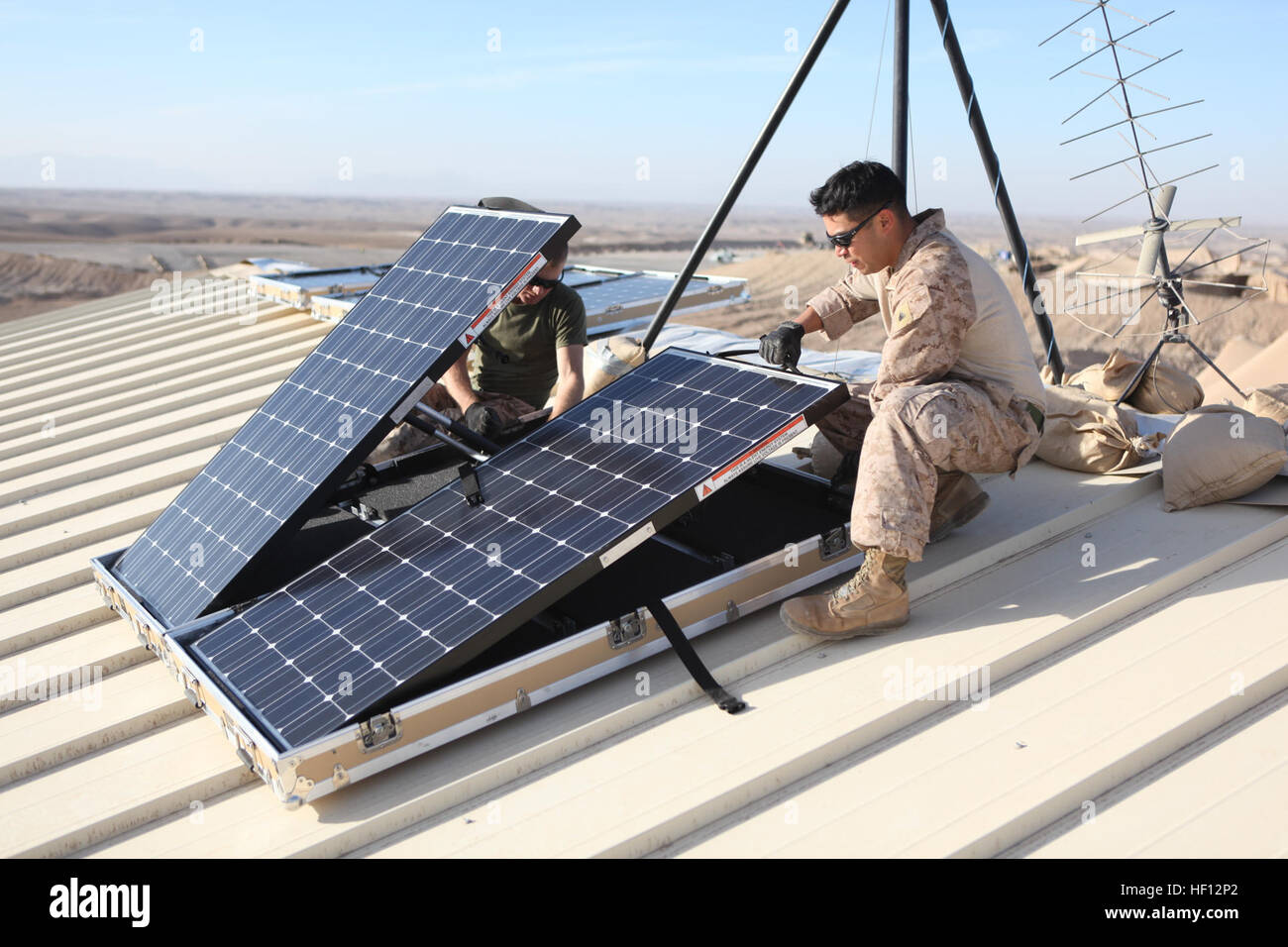 Marine solar panel installations first mate marine inc - U S Marine Corps Cpl Robert G Sutton Left And Cpl Moses