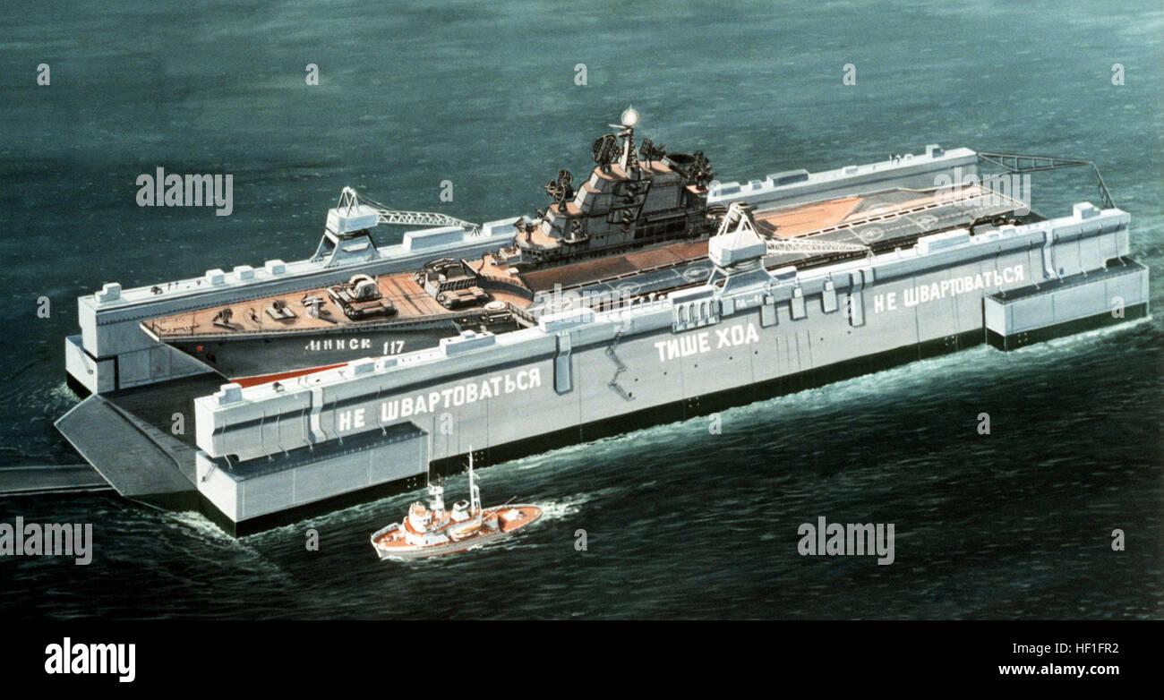 Artist concept of a Soviet Kiev-class aircraft carrier in ...