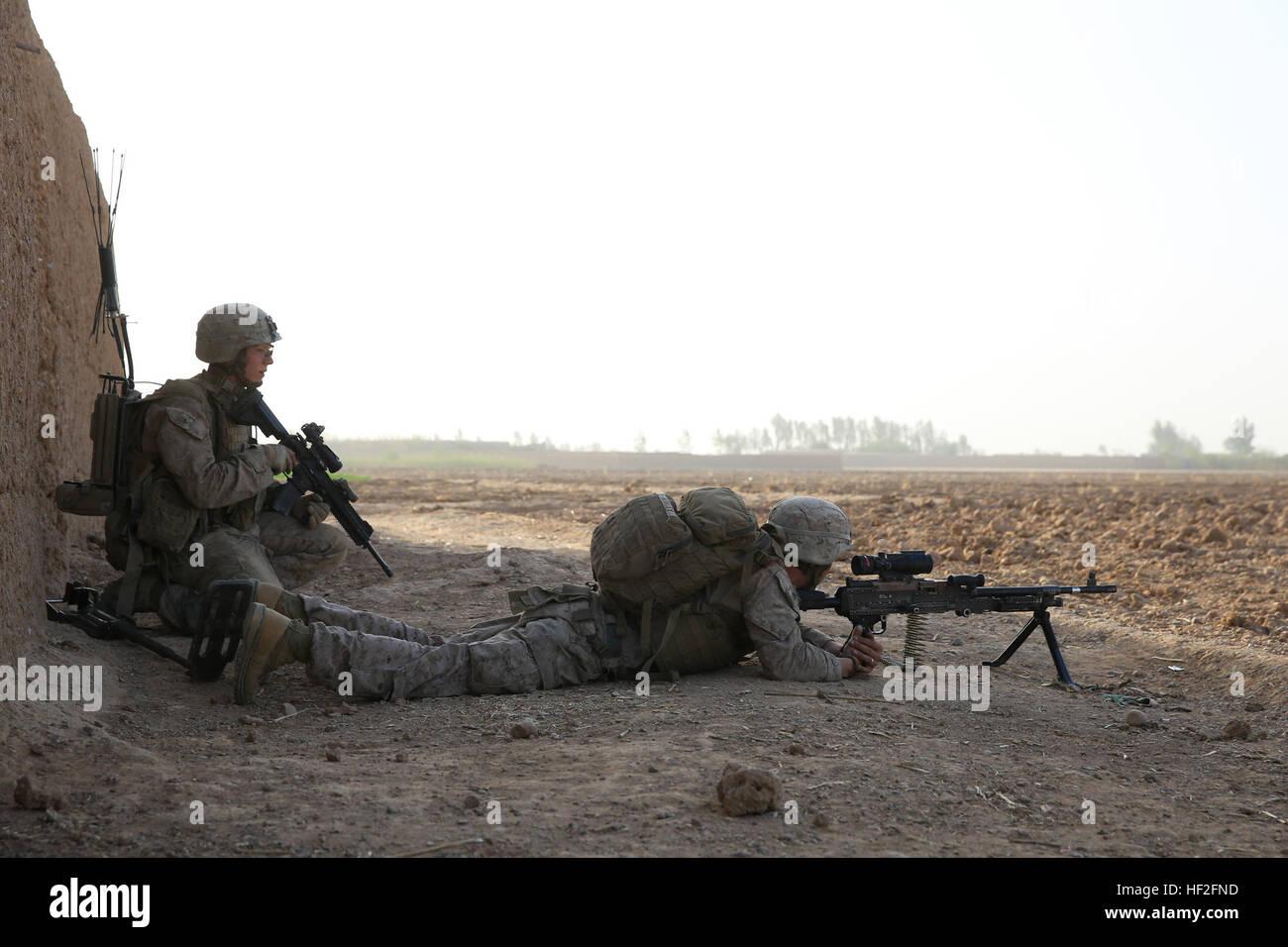 U.s. Marine Corps Lance Cpl. Michael Hughes, Left, An Assaultman ...