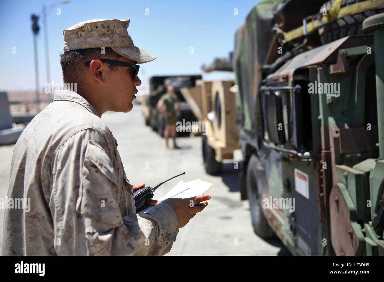 Lance Cpl. Rodrigo Ortega, a landing support specialist with ...