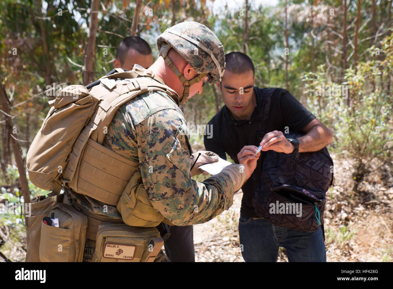 U.S. Marine Corps Lance Cpl. Kevin Miller, a machine gunner with ...