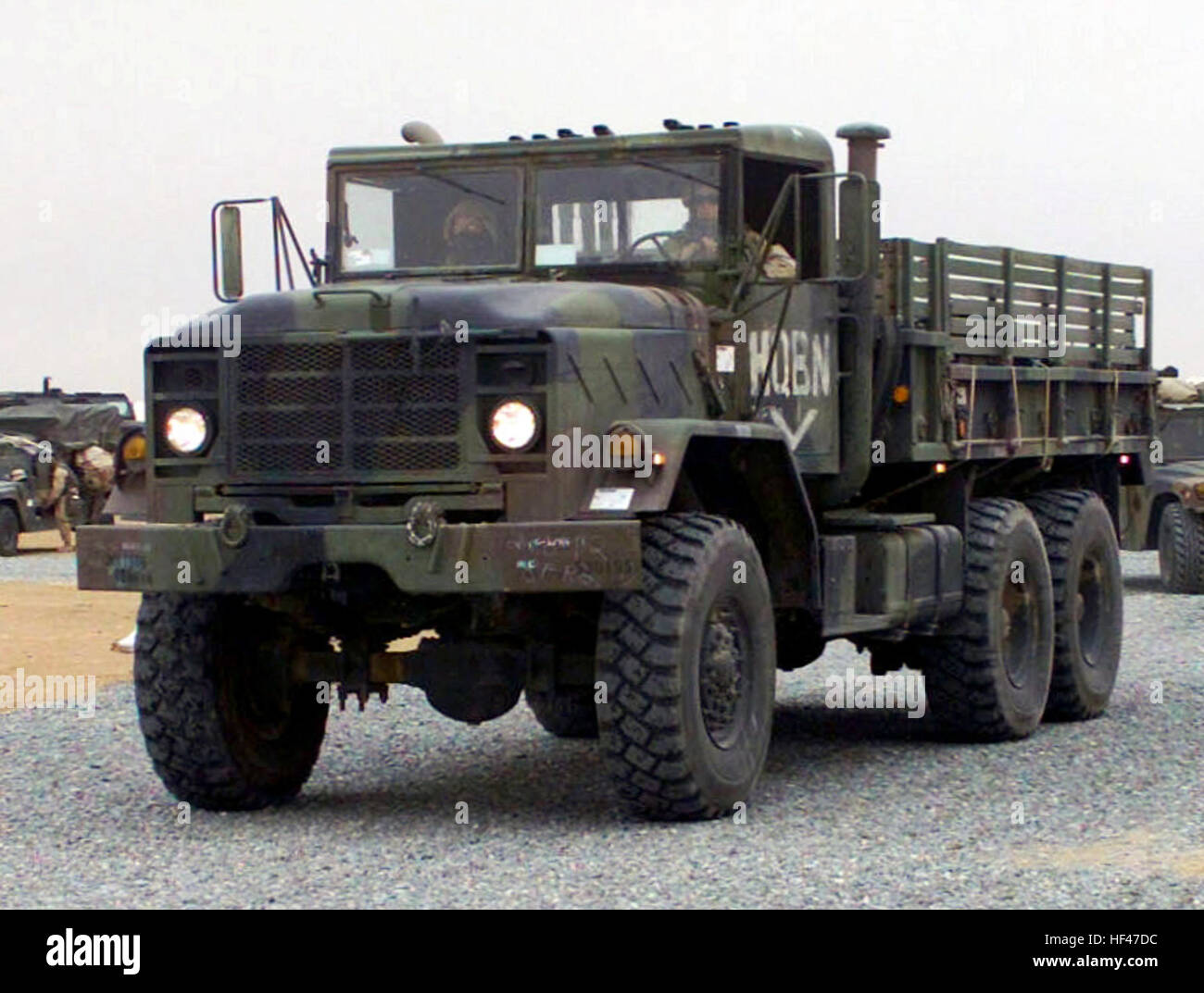 A US Marine Corps (USMC) M923 (6X6) 5-ton cargo truck ...