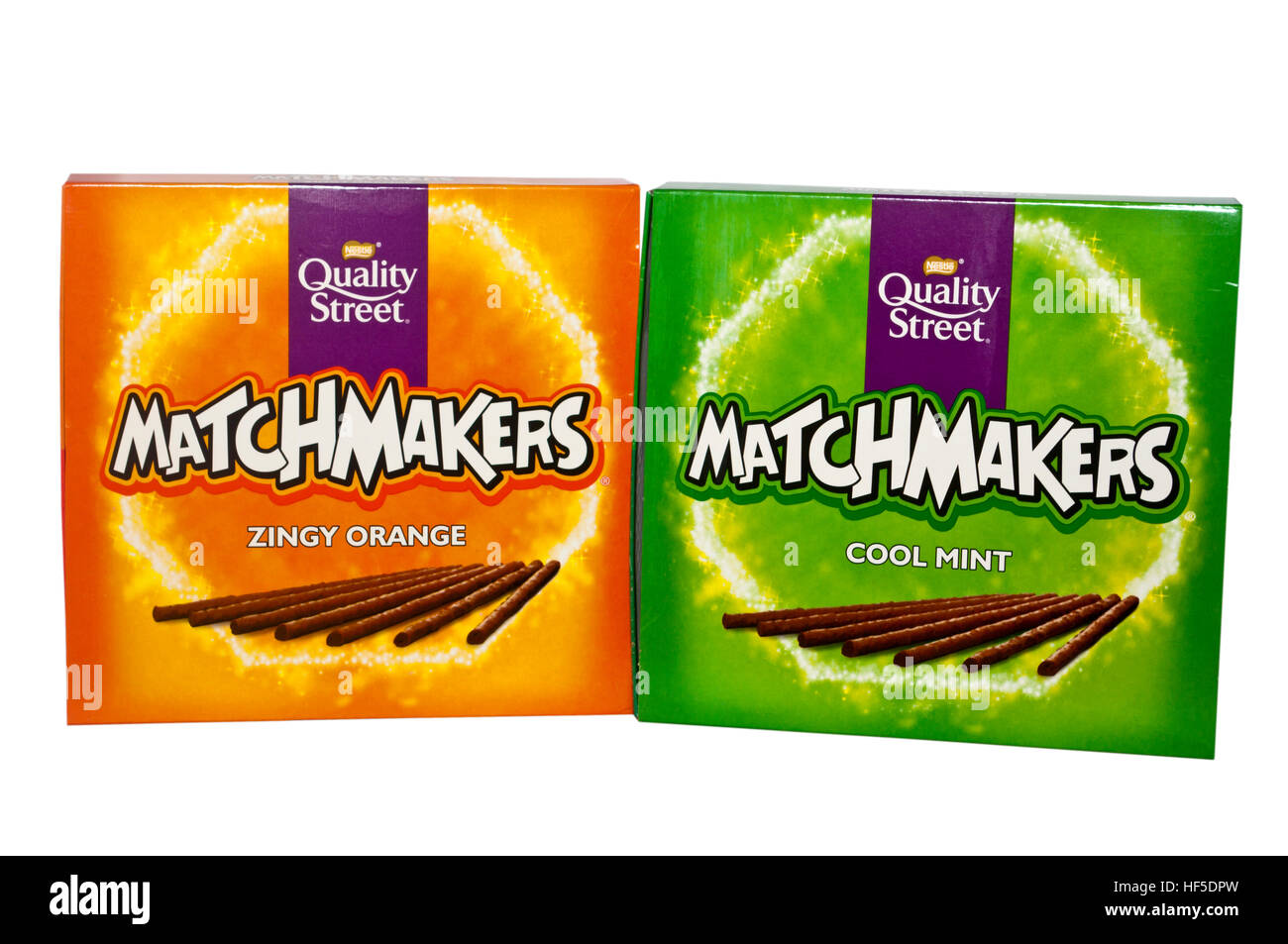 Boxes Of Cool Mint And Zingy Orange Matchmakers Nestle Quality Street Products
