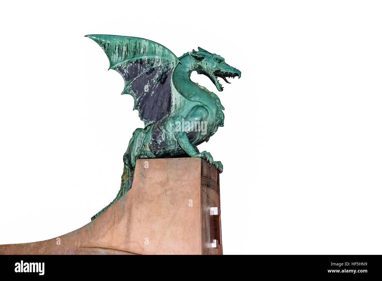Dragon statue on the dragon bridge in ljubljana popular tourist dragon statue on the dragon bridge in ljubljana popular tourist landmark and symbol of ljubljana biocorpaavc Image collections