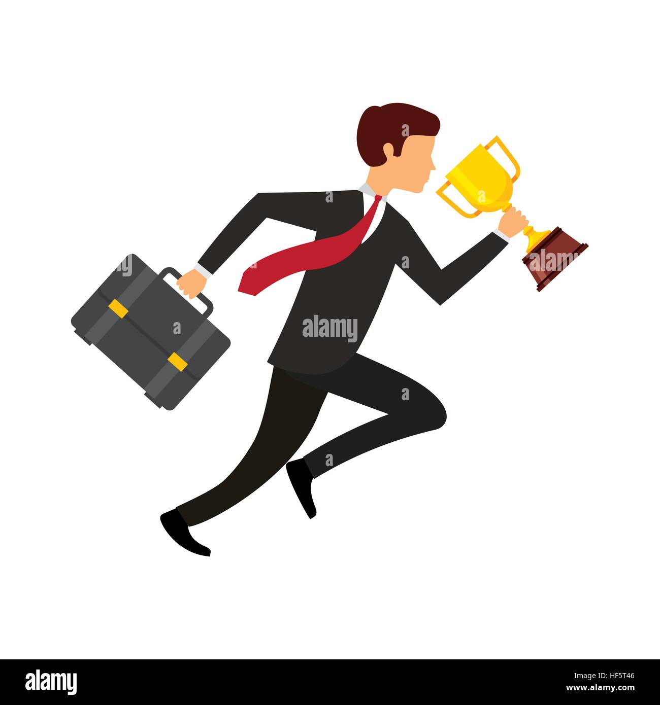 Business man holding a briefcase and trophy icon over white stock business man holding a briefcase and trophy icon over white background competitive business concept colorful design vector illustration magicingreecefo Image collections