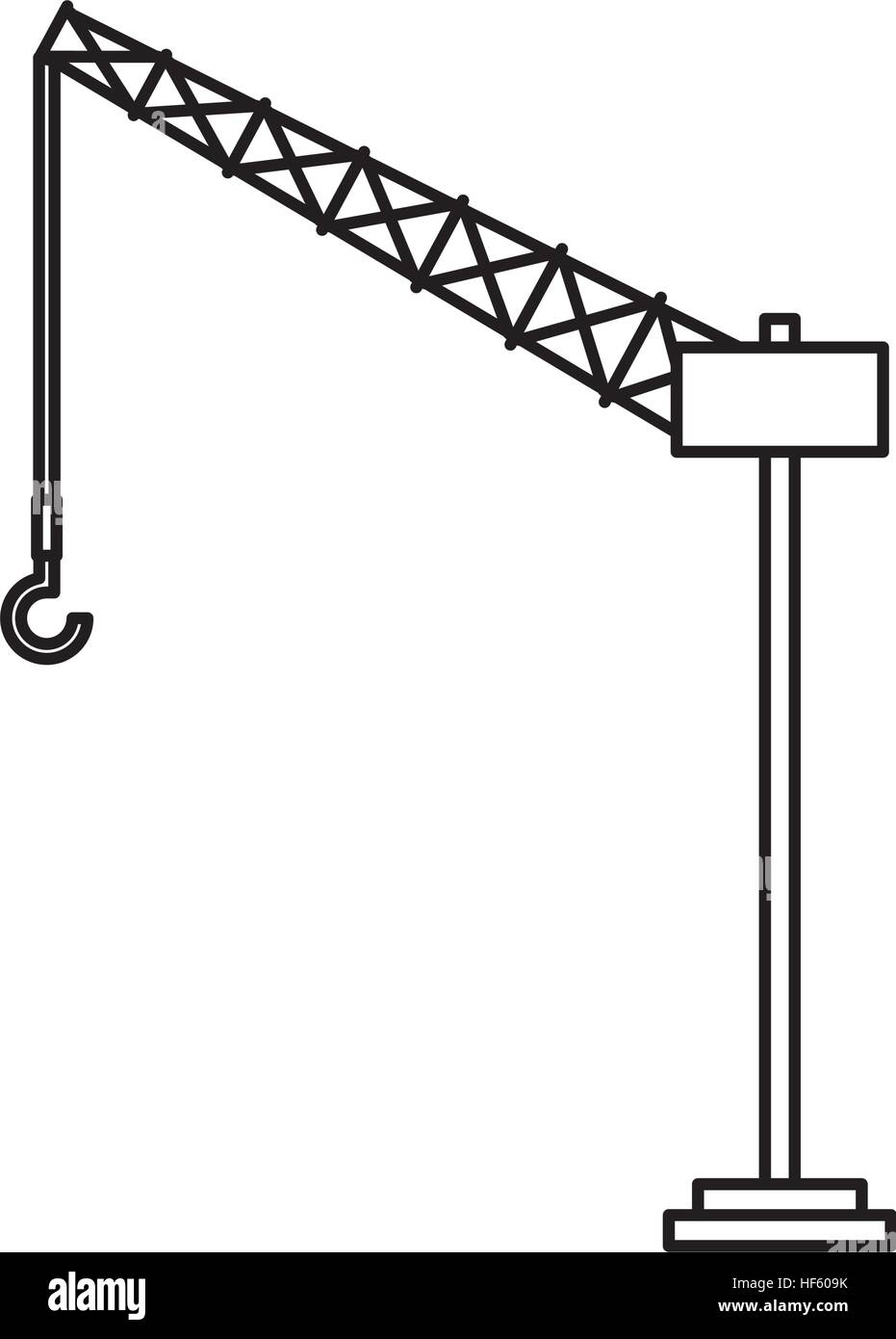 Tower Crane Design : Tower crane service icon vector illustration design stock