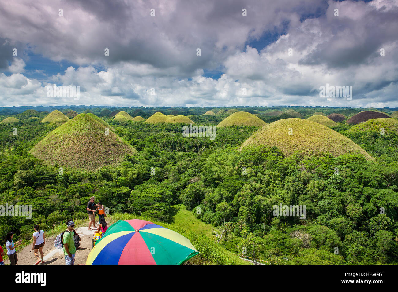 Chocolate Hills Geological Monument on Bohol Island, Philippines ...