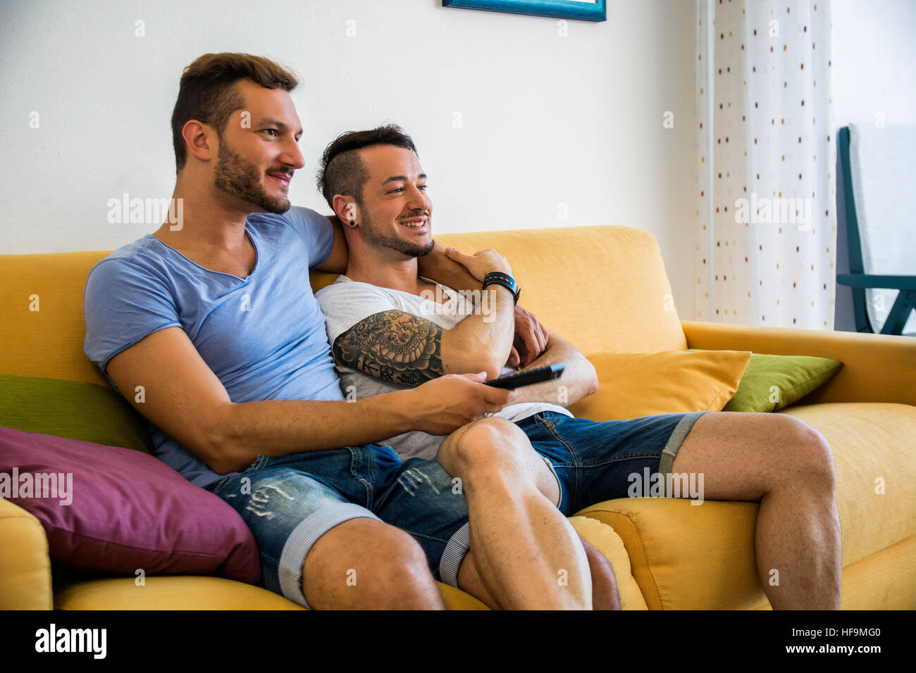 from Trey gay sex on the sofa
