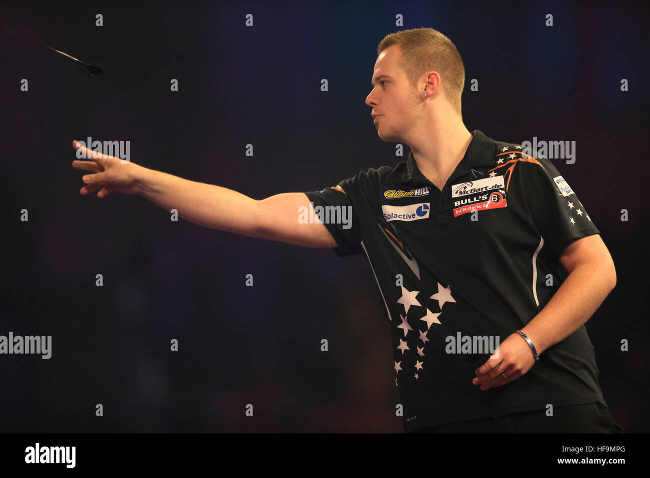 Max Hopp During Day Eleven Of The William Hill World Darts Championship At Alexandra Palace London