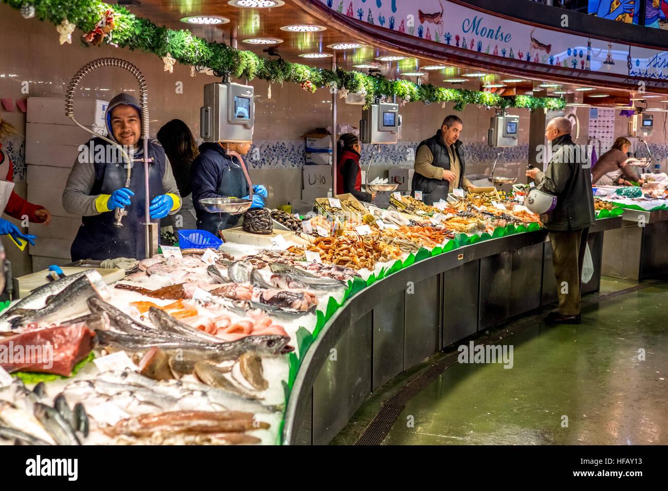 mercado de la boqueria fish market seafood in barcelona