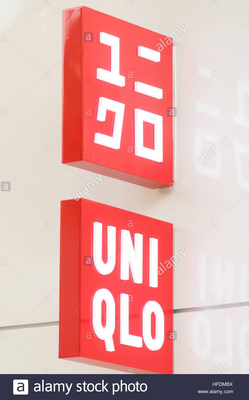 Uniqlo Store Signage. Uniqlo Is A Japanese Casual Wear Designer ...