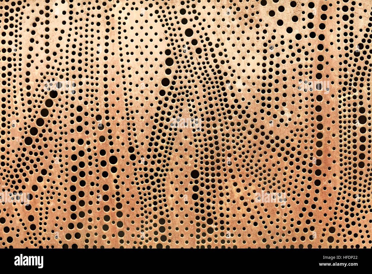Perforated Metal Sheet Abstract Background Stock Photo