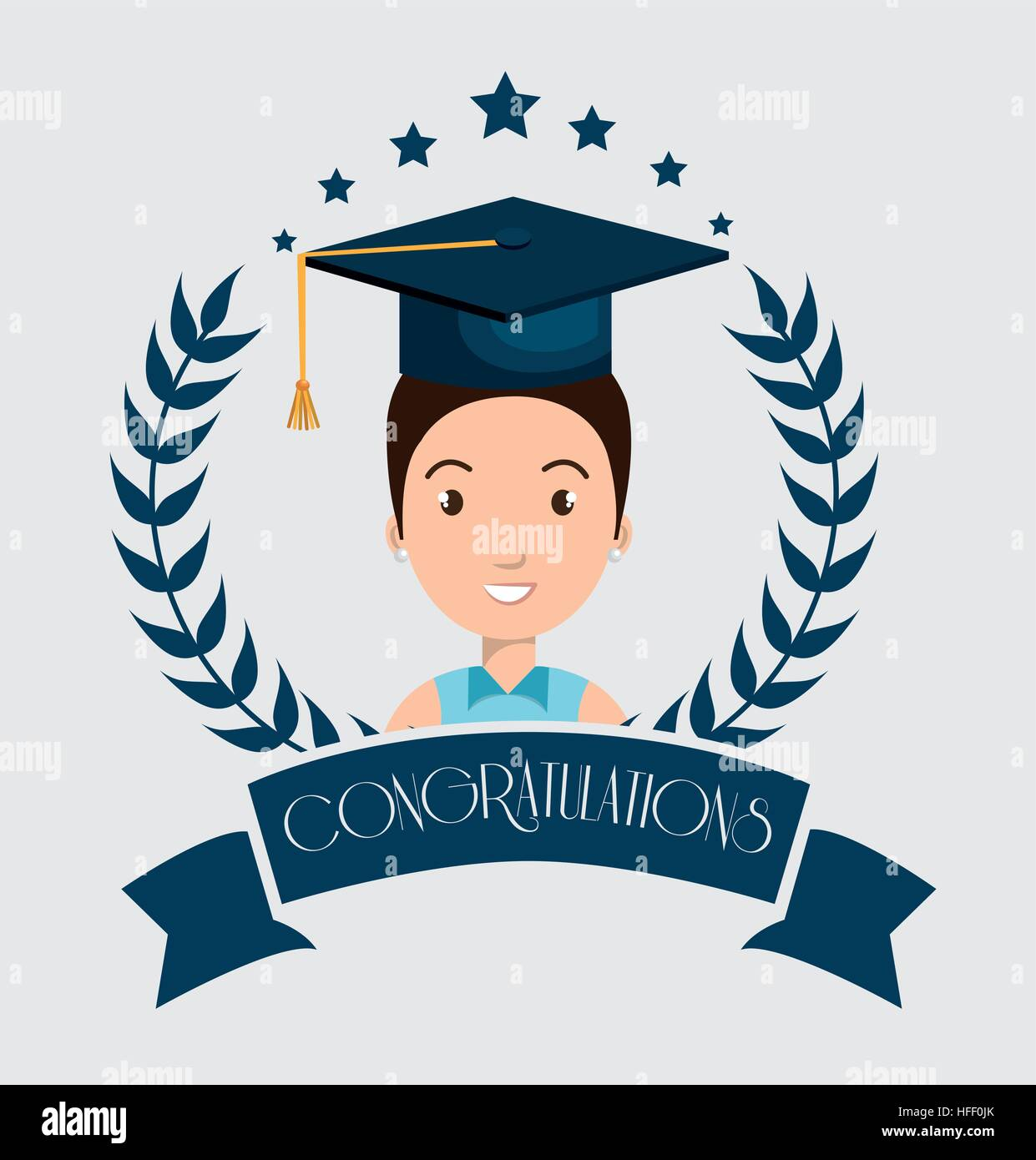 graduation card isolated icon vector illustration design ...