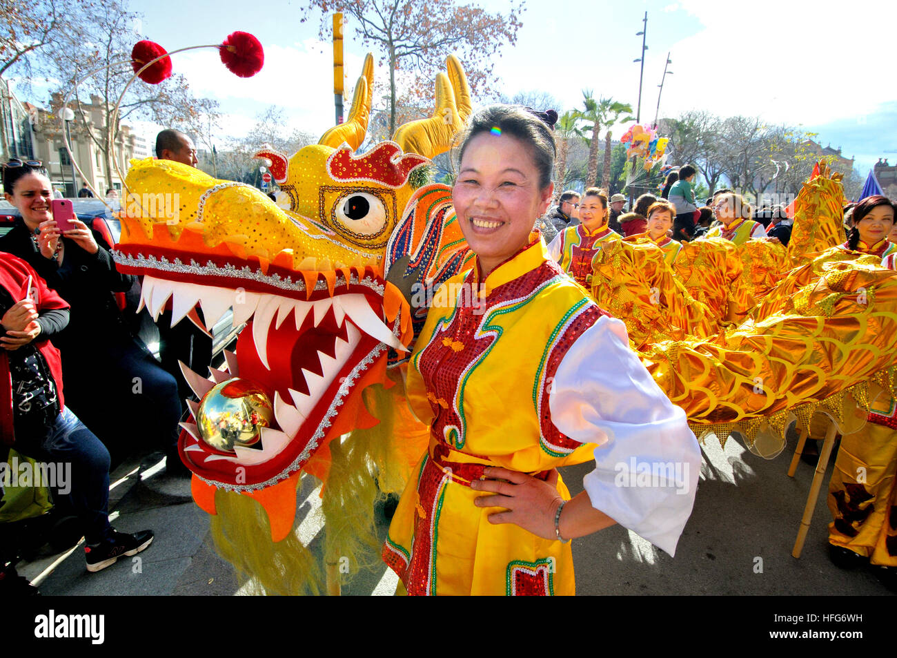 chinese new year celebrations by chinese community in barcelona catalonia spain - When Is Chinese New Year Celebrated