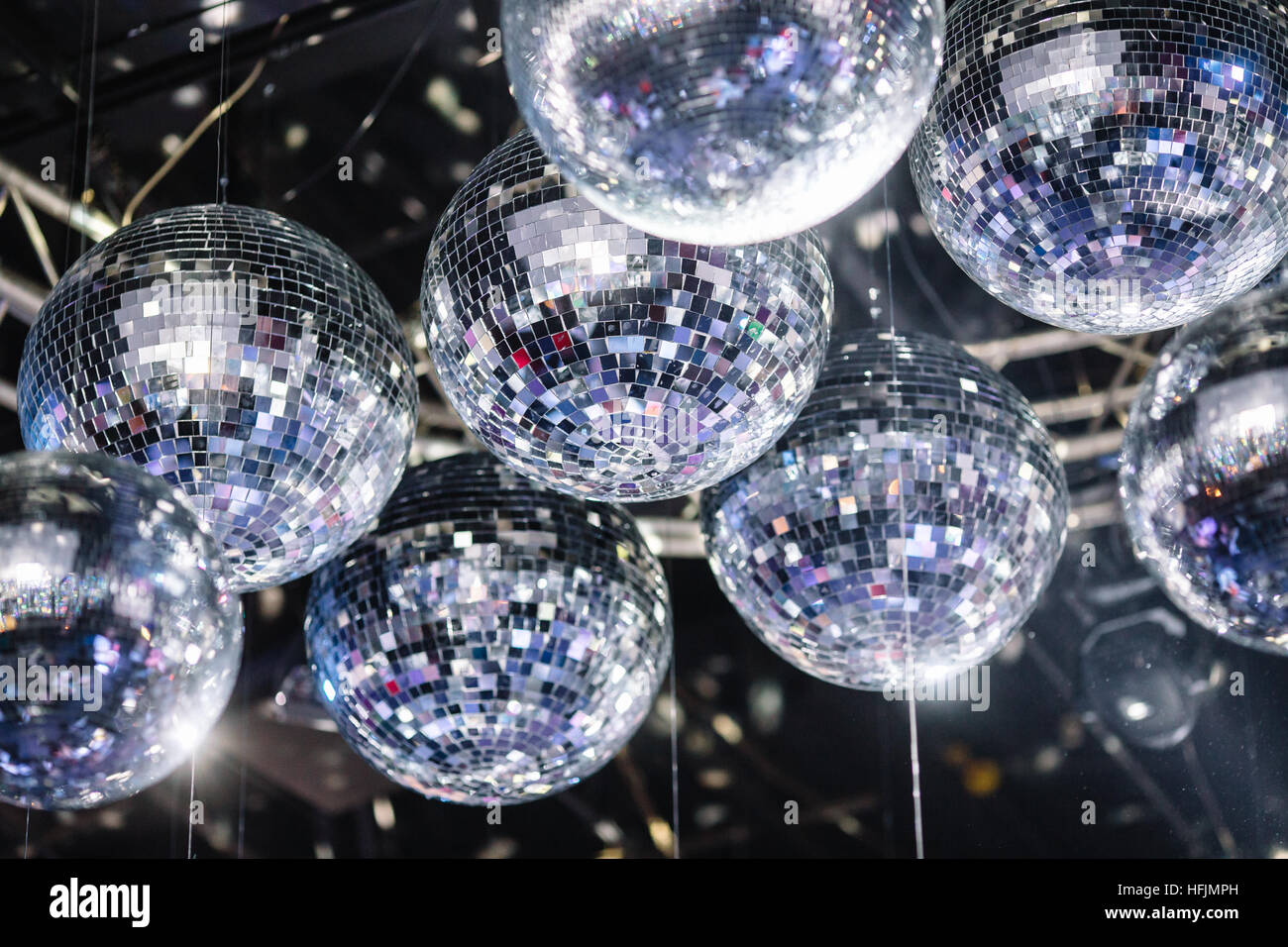 Disco balls on the ceiling stock photo royalty free image disco balls on the ceiling aloadofball Image collections