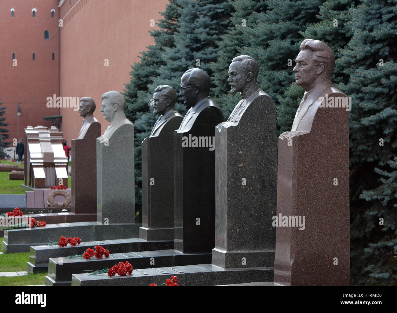 busts of famous communist leaders including stalin and