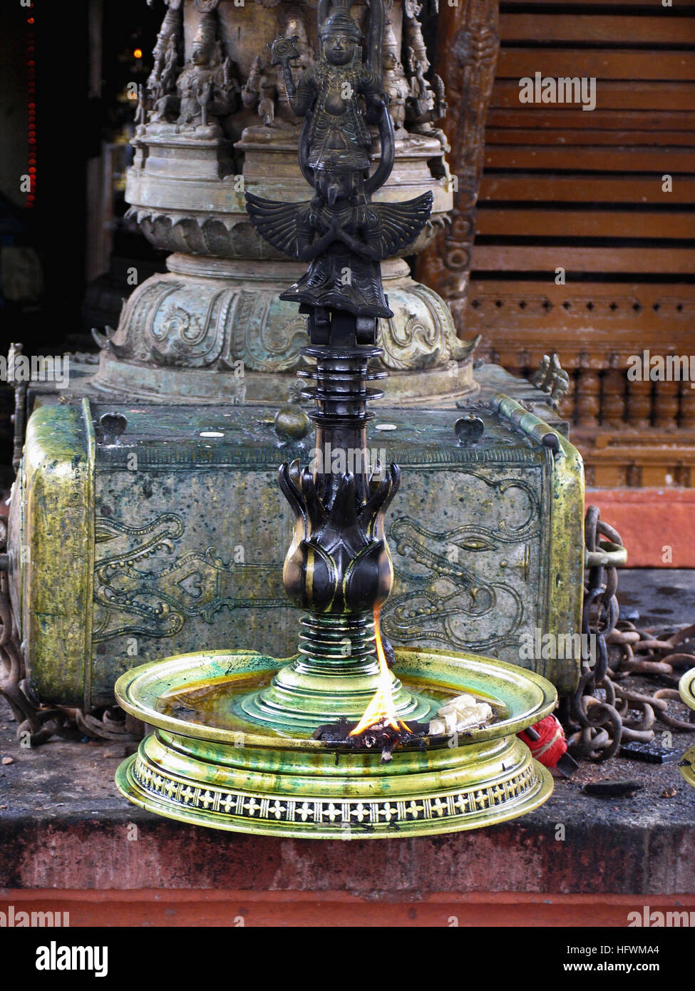 Kerala Temple Lamps Stock Photos  for Temple Stone Lamp  54lyp