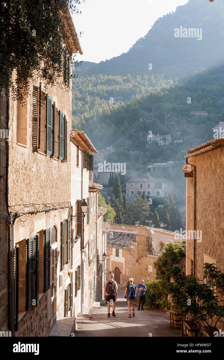 deia  mallorca  spain  street view in pretty little majorcan village stock photo  130261288