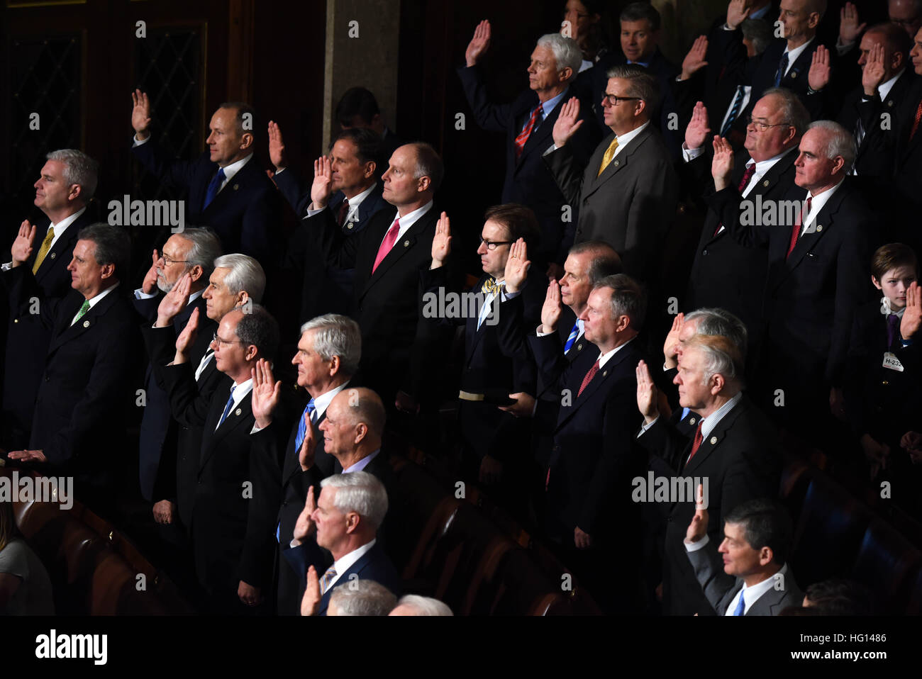 washington, usa. 3rd jan, 2017. newly elected members of the house