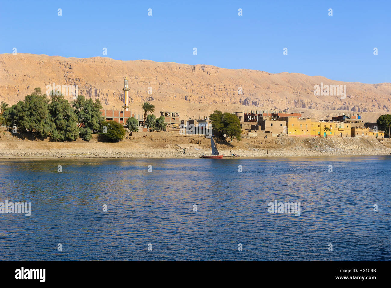 Village along the shore of the Nile