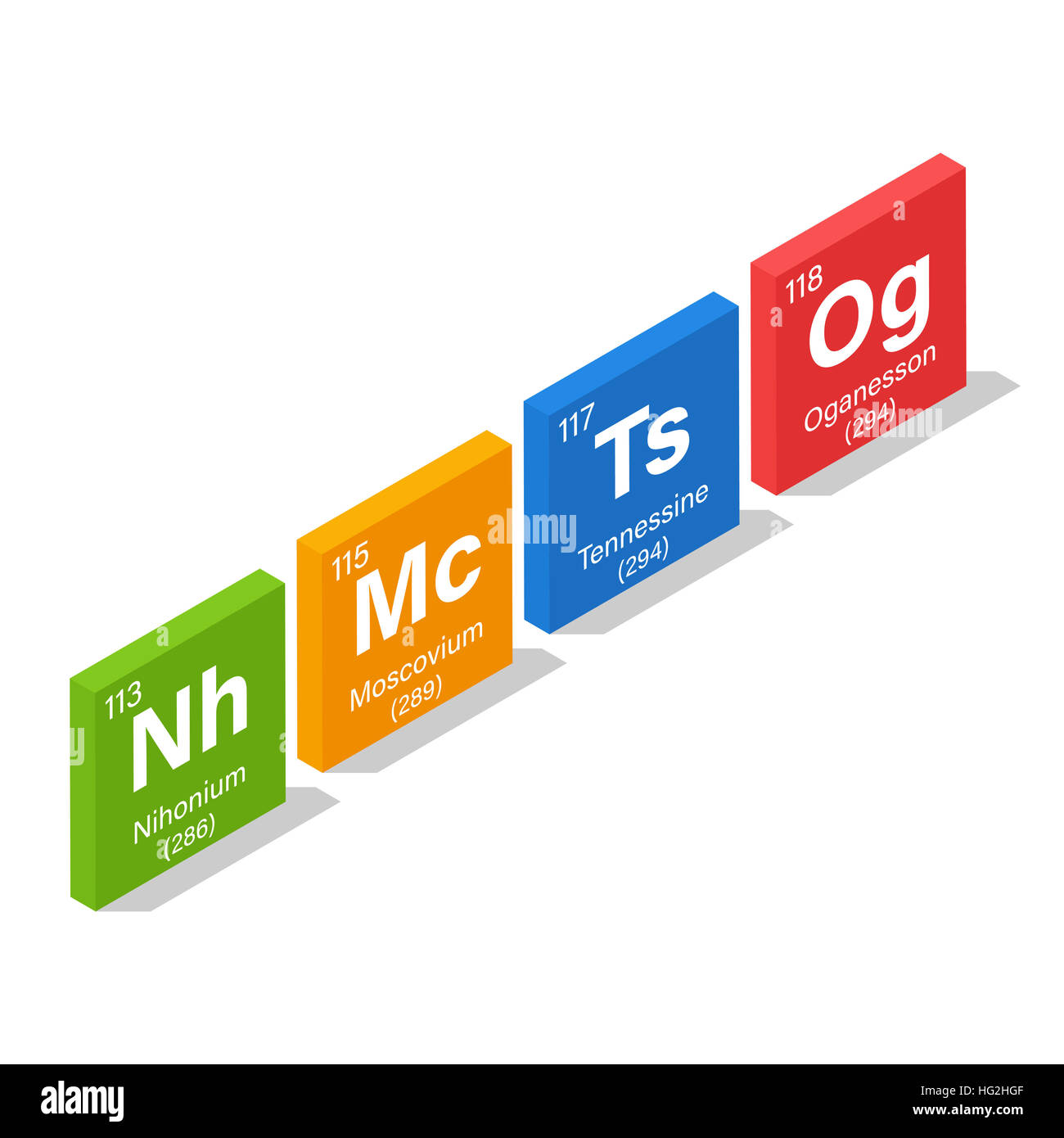 2016 new elements in the periodic table nihonium moscovium 2016 new elements in the periodic table nihonium moscovium tennessine and oganesson 3d isometric style gamestrikefo Image collections