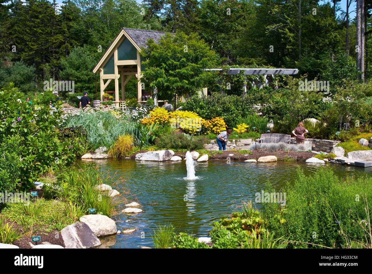 Coastal Maine Botanical Gardens, Boothbay, Maine, A Garden Featuring Plants  And Flowers Of New England And Sculpture