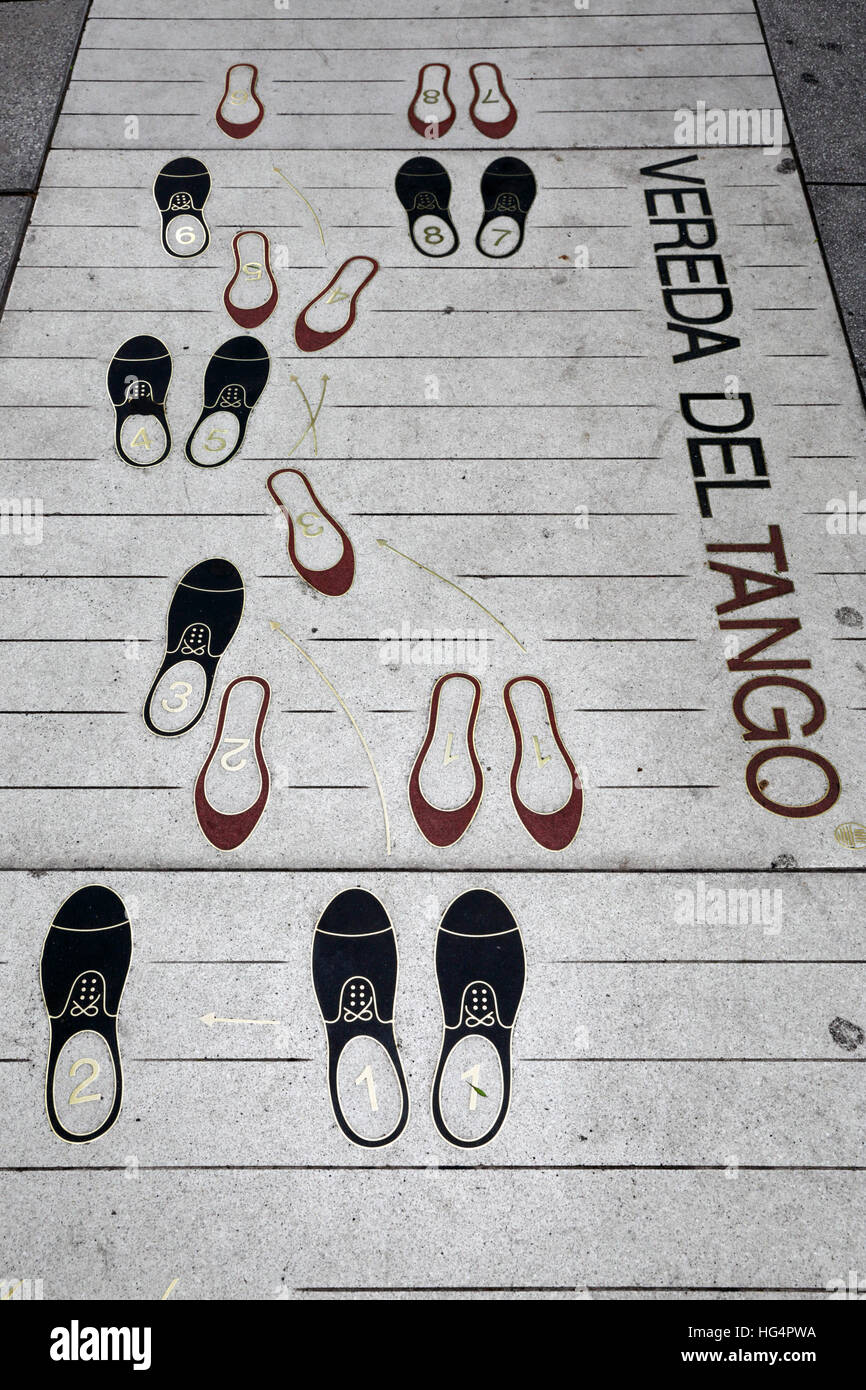 Pavement Showing Tango Dance Steps Buenos Aires Argentina South America Hg Pwa on Swing Dance Steps Diagram