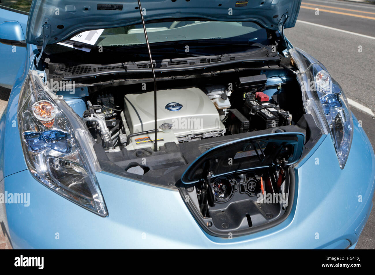 Nissan Leaf Engine Bay Usa Stock Photo Royalty Free