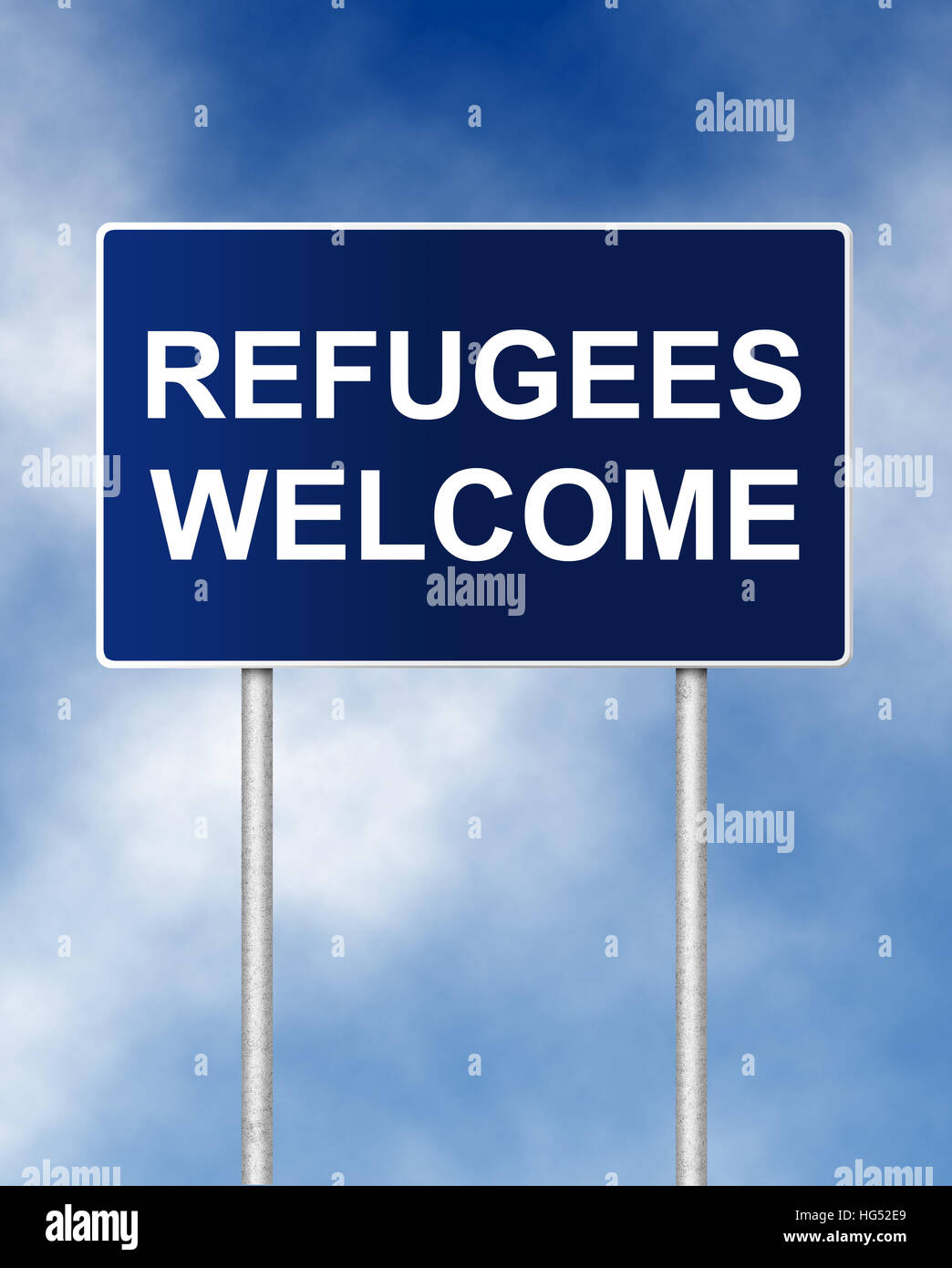 The road sign symbol with text refugees welcome stock photo the road sign symbol with text refugees welcome buycottarizona Gallery