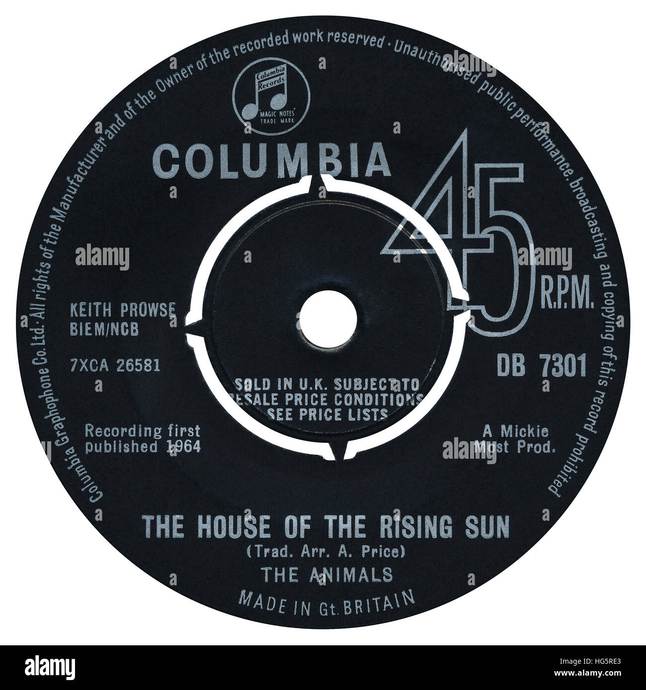 45 rpm 7 uk record label of the house of the rising sun for Classic house record labels