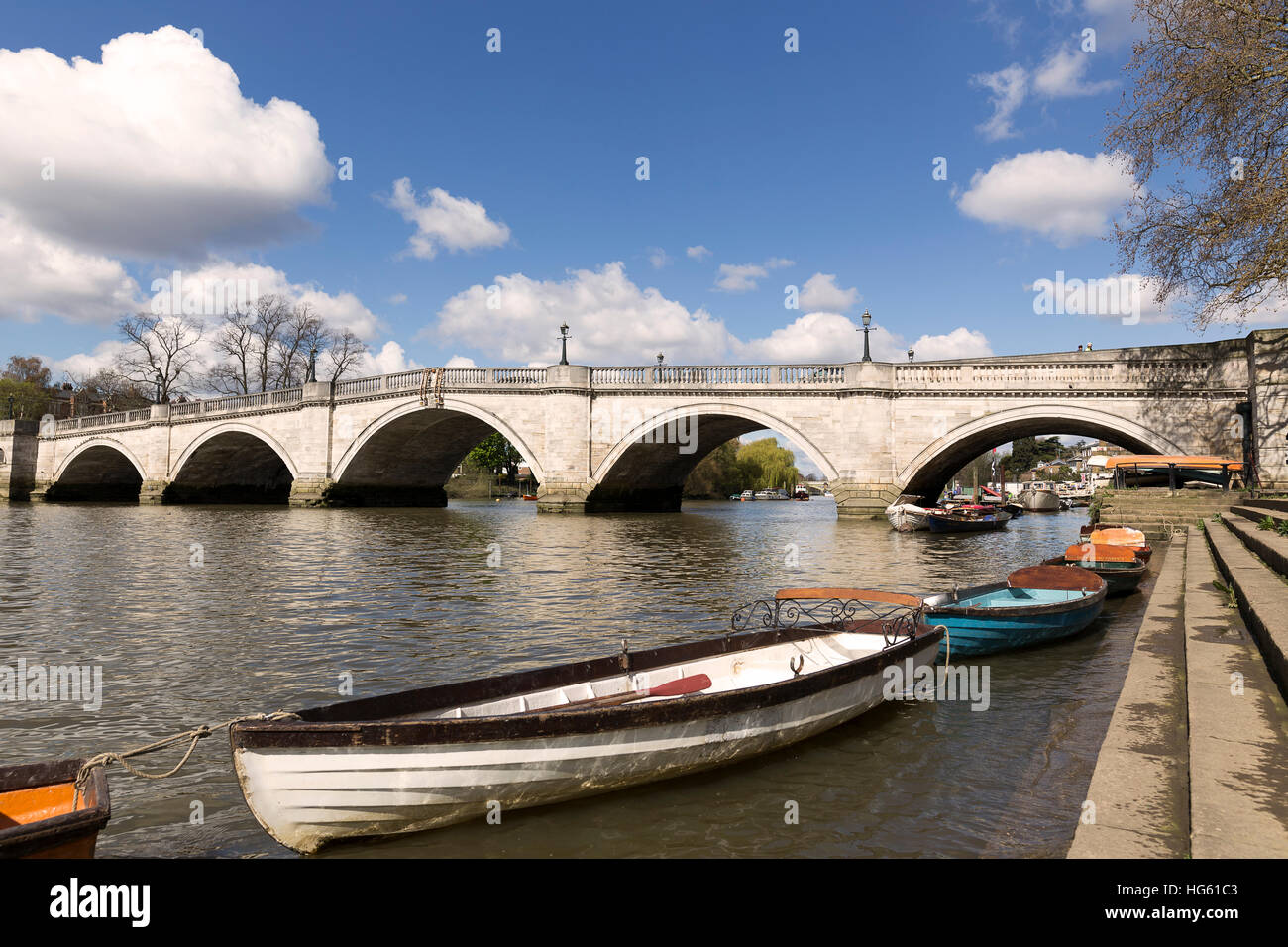 Richmond upon thames and bridge over the river stock photo richmond upon thames and bridge over the river nvjuhfo Choice Image