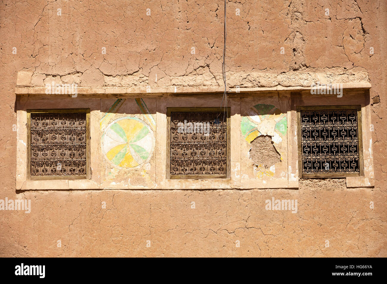 Ksar Elkhorbat, Morocco. Berber Decoration and Window Grills on ...