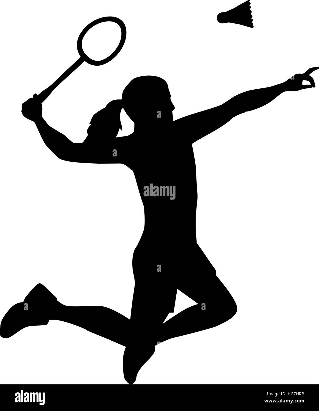 silhouette of badminton woman stock vector art sell clipart drawings sell clipart drawings