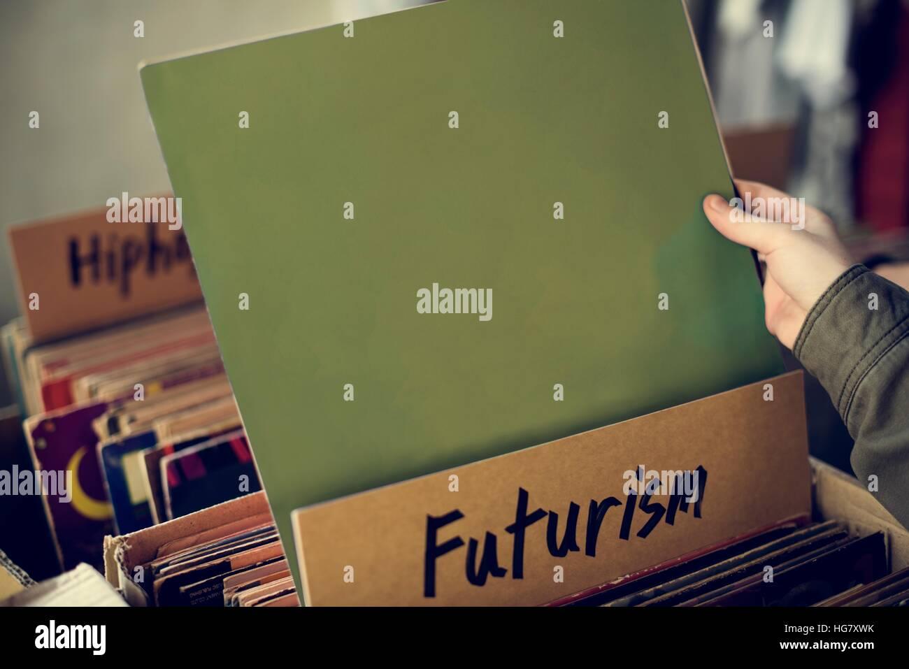 Futurism Music Audio Relaxation Rhythm Vinyl Concept Stock Photo ...