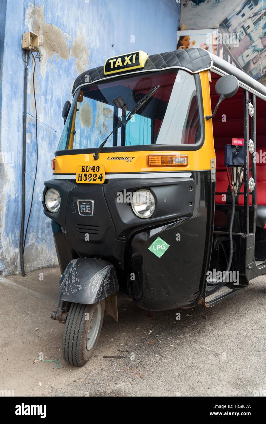 Car interior kochi - Auto Rickshaw Jew Town Fort Kochi Cochin Kerala India