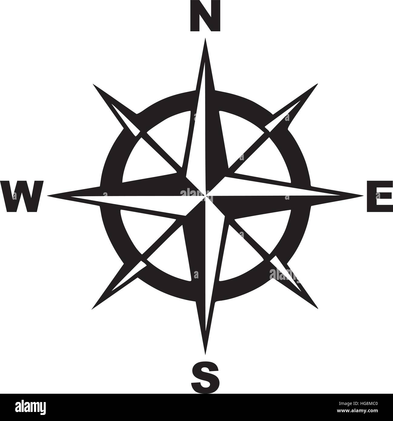 Compass with north south east west stock vector art illustration compass with north south east west biocorpaavc Image collections