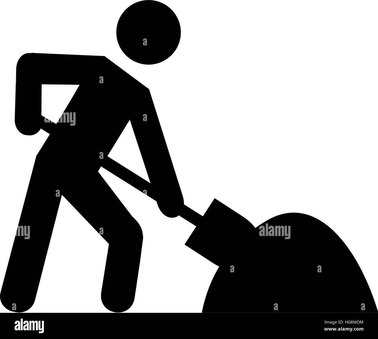 Construction shovel pictogram stock photos construction shovel man pictogram working with shovel stock image biocorpaavc Images