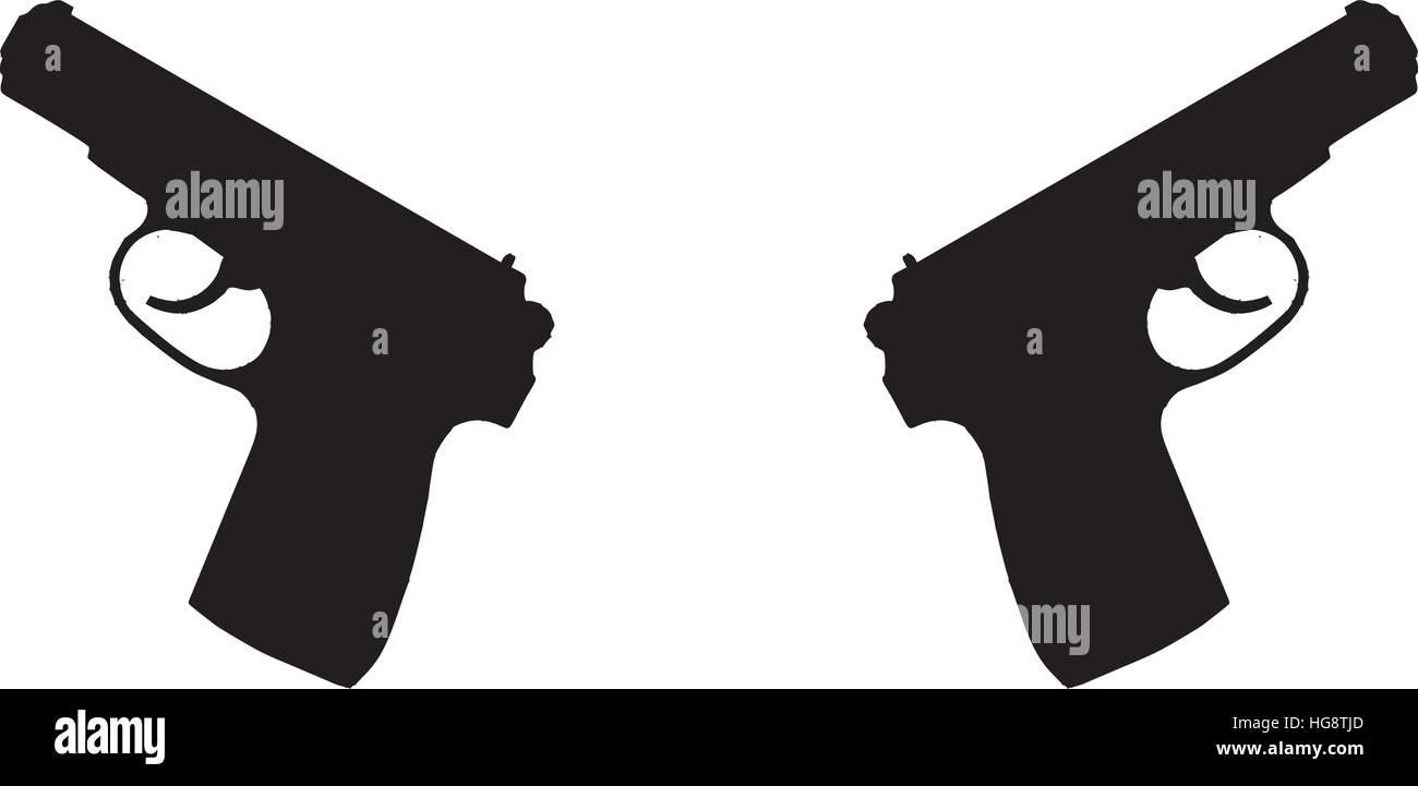 Two guns symbol stock vector art illustration vector image two guns symbol buycottarizona